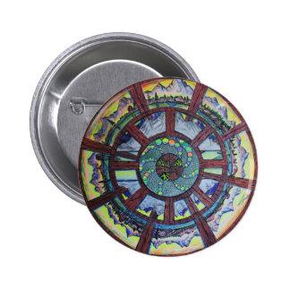 La rueda de la línea del regalo del tiempo pin redondo de 2 pulgadas