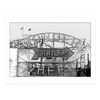 La rueda de la maravilla emociona (Coney Island, N Postal