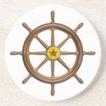 La rueda de la nave de madera posavasos diseño