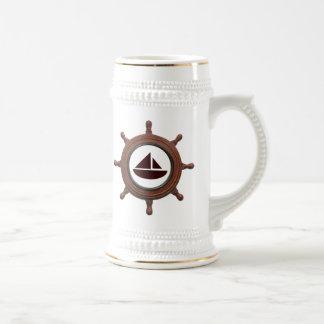 La rueda de la nave jarra de cerveza