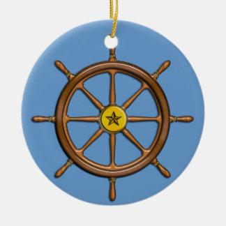 La rueda de la nave náutica adorno para reyes