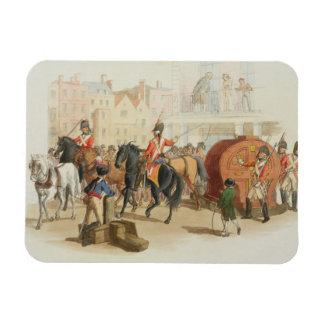 La rueda de lotería, grabada por el artista, 1805  iman rectangular
