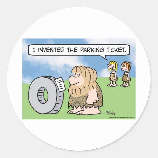 la rueda del hombre de las cavernas inventó a la pegatina redonda