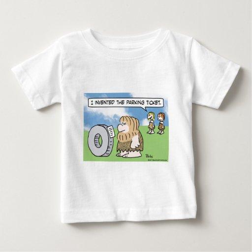 la rueda del hombre de las cavernas inventó a la playera de bebé
