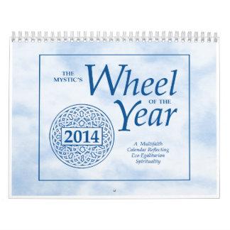 La rueda del místico del año 2014 calendarios de pared