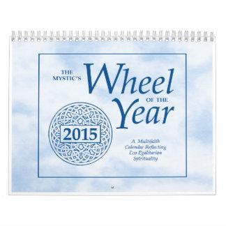 La rueda del místico del calendario de pared del