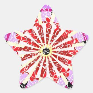 La rueda grande calcomanías forma de estrella
