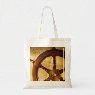La rueda y el mapa de las naves bolsa tela barata