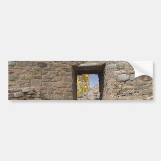 la ruina azteca una mirada en baja a través de la  pegatina de parachoque