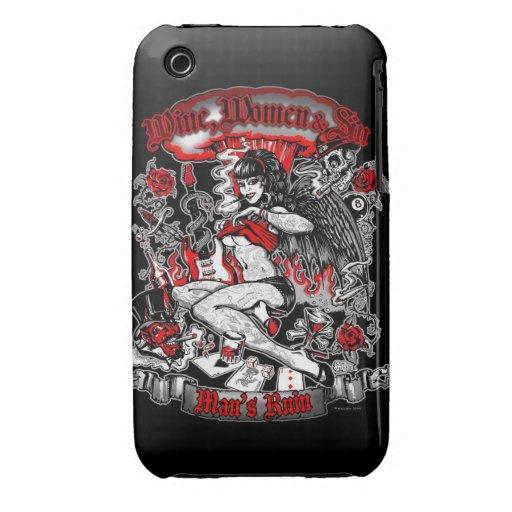 La ruina del hombre: Mujeres y pecado del vino Case-Mate iPhone 3 Cobertura