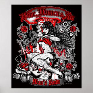 La ruina del hombre: Mujeres y pecado del vino Impresiones