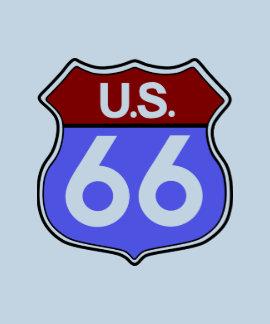 La ruta 66 consigue sus los retrocesos hombres camiseta