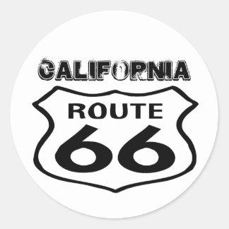 La ruta 66 LK gastado del vintage del pegatina