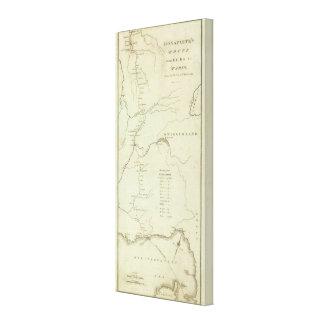 La ruta de Bonaparte de Elba a París Lona Envuelta Para Galerias