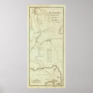 La ruta de Bonaparte de Elba a París Póster