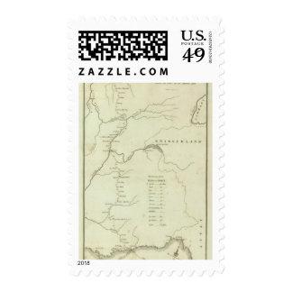 La ruta de Bonaparte de Elba a París Timbre Postal