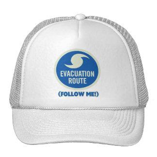 ¡La ruta de la evacuación del huracán me sigue! Gorro