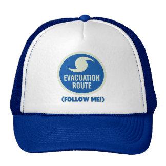 ¡La ruta de la evacuación del huracán me sigue! Gorros Bordados