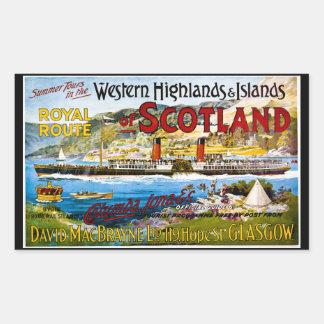 La ruta real del verano de Escocia viaja al Rectangular Altavoz
