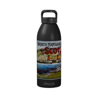 La ruta real del verano de Escocia viaja al vintag Botellas De Agua Reutilizables