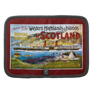 La ruta real del verano de Escocia viaja al vintag Planificador