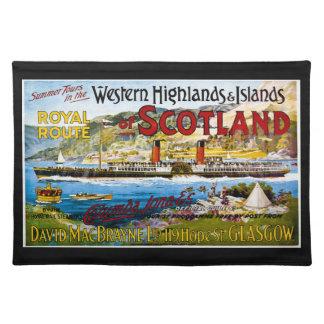 La ruta real del verano de Escocia viaja al vintag Mantel Individual