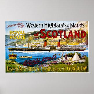 La ruta real del verano de Escocia viaja al vintag Impresiones