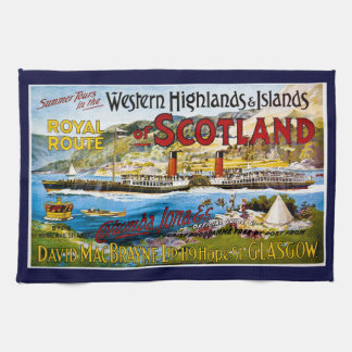La ruta real del verano de Escocia viaja al vintag Toalla
