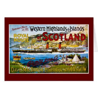 La ruta real del verano de Escocia viaja al vintag Tarjetas