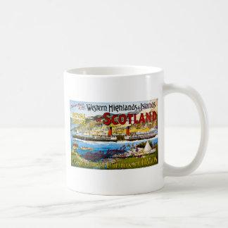 La ruta real del verano de Escocia viaja al vintag Taza De Café
