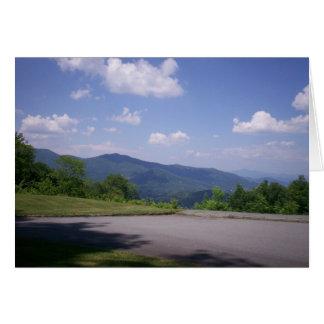 La ruta verde azul de Ridge pasa por alto la visió Felicitacion