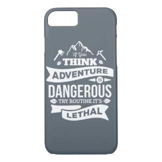 La rutina de la aventura de la escalada es error funda iPhone 7
