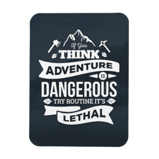 La rutina de la aventura de la escalada es error iman de vinilo