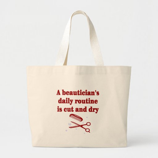 La rutina de un Beautician es - y - la bolsa de as