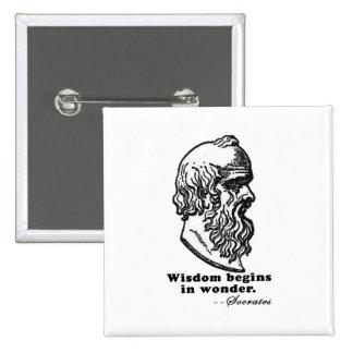La sabiduría comienza en camiseta de la cita de Só Pins