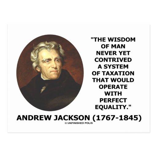 La sabiduría de Andrew Jackson idea igualdad de lo Postales