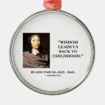 La sabiduría de Blaise Pascal nos lleva de nuevo a Ornamento Para Arbol De Navidad