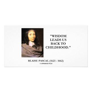 La sabiduría de Blaise Pascal nos lleva de nuevo a Tarjeta Fotográfica