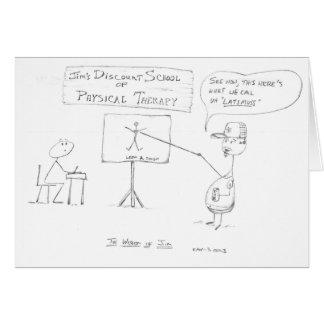 La sabiduría de Jim: Escuela de la terapia física Tarjeta De Felicitación