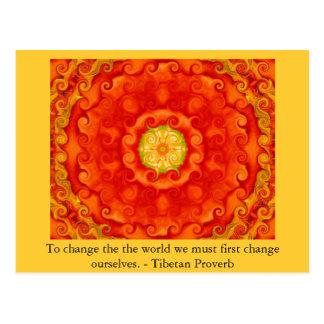 La sabiduría del PROVERBIO de Tíbet Tarjetas Postales