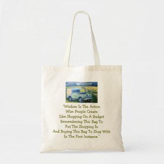 La sabiduría es bolso… bolsa tela barata