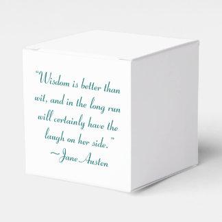 La sabiduría es mejor que la cita de Jane Austen Cajas Para Regalos