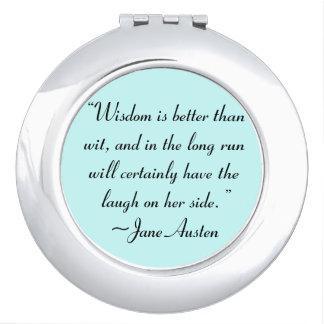 La sabiduría es mejor que la cita de Jane Austen Espejos De Viaje