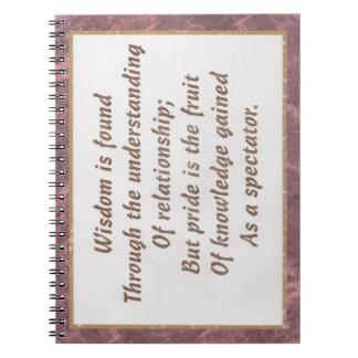 La sabiduría es productos encontrados libros de apuntes