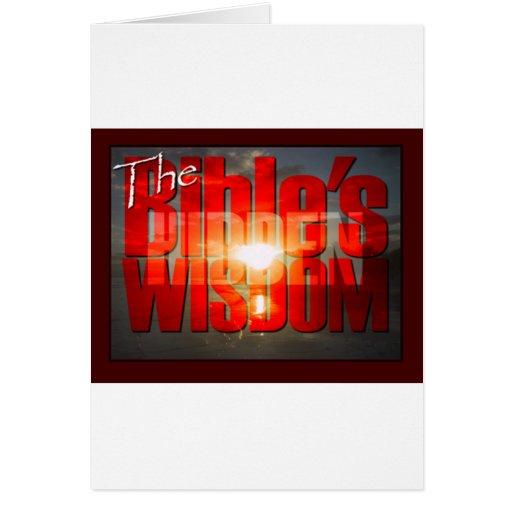 La sabiduría ocultada de la biblia felicitacion