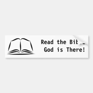 ¡La Sagrada Biblia, leyó a dios de la biblia está  Pegatina De Parachoque