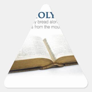 La Sagrada Biblia Pegatina Triangular