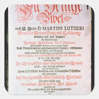 La Sagrada Biblia, vol. I., 1681 Calcomania Cuadrada Personalizada
