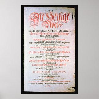 La Sagrada Biblia, vol. I., 1681 Póster