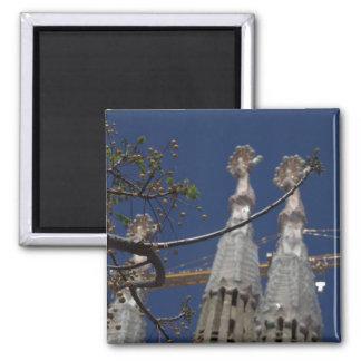 La Sagrada Família 2 Inch Square Magnet